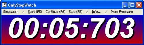 OnlyStopWatch (โปรแกรมนาฬิกาจับเวลาฟรี) :