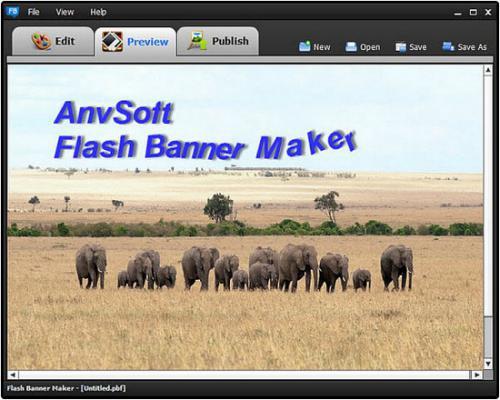 โปรแกรมแต่งรูป AnvSoft Flash Banner Maker