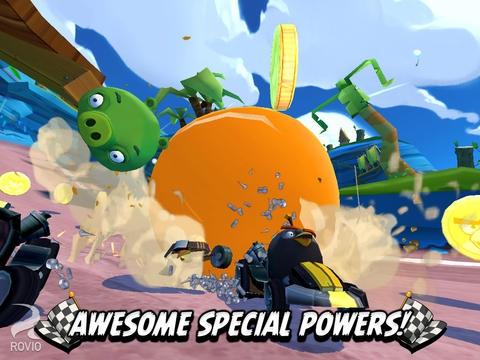 Angry Birds Go (App เกมส์ Angry Birds Go แข่งรถแบบ 3 มิติ) :