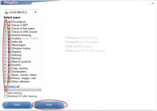 โปรแกรมจัดการคอม ลบไฟล์ขยะ PrivaZer