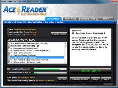โปรแกรมฝึกอ่านภาษาอังกฤษ AceReader