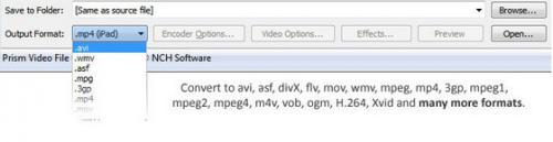 โปรแกรมแปลงไฟล์ Prism Video Converter