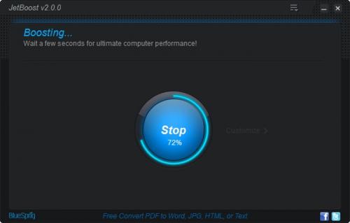 โหลดโปรแกรม JetBoost