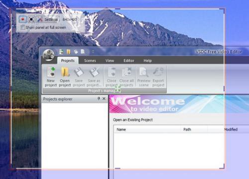 โปรแกรมอัดวีดีโอหน้าจอ VSDC Free Screen Recorder