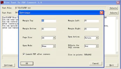 โปรแกรมแปลงไฟล์ Text to PDF Converter