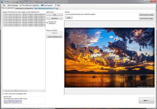โปรแกรมทำลายน้ำ TSR Watermark Image