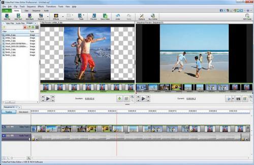 โปรแกรมตัดต่อวีดีโอ VideoPad Video Editor