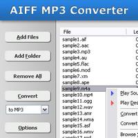 AIFF MP3 Converter (โปรแกรมแปลงไฟล์ AIFF เป็น MP3 และ WAV) :
