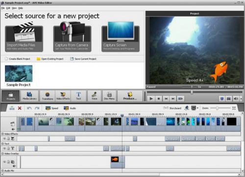 โปรแกรมตัดต่อวิดีโอ AVS Video Editor