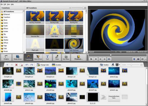 โปรแกรมทำวีดีโอ AVS Video Editor