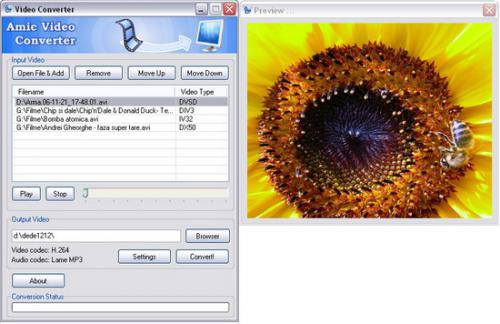 โปรแกรมแปลงไฟล์วีดีโอ Amic Video Converter