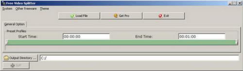 โปรแกรมตัดวีดีโอ Free Video Splitter