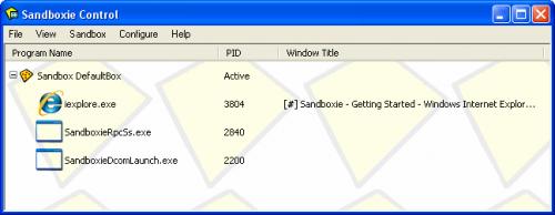 จัดระเบียบโปรแกรม Sandboxie