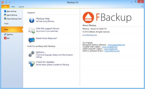 โปรแกรมสำรองข้อมูล FBackup