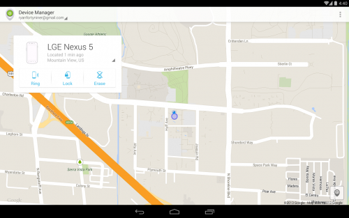 Android Device Manager (App ติดตามมือถือ Android) :