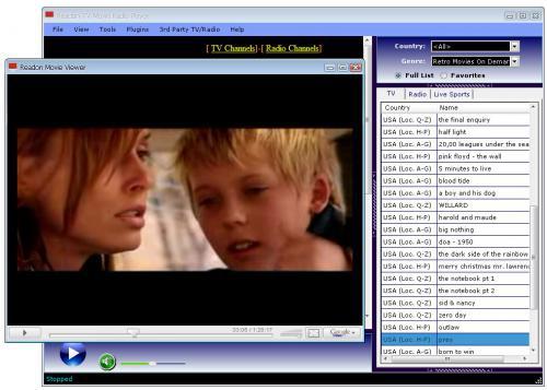 โปรแกรมดูทีวี Readon TV Movie Radio Player