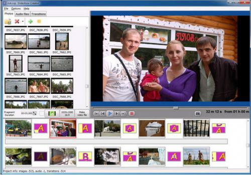 โปรแกรมตัดต่อวีดีโอ Free Bolide Slideshow Creator