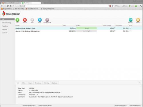 ดาวน์โหลดโปรแกรมเว็บบราวเซอร์ Torch Browser