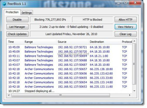 PeerBlock - Free IP Firewall (ป้องกันโฆษณา สปายแวร์ ...