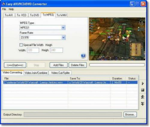 โปรแกรม easy-avi-vcd-dvd-mpeg-converter