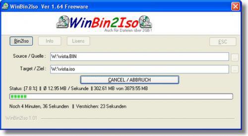 โปรแกรมแปลงไฟล์ BIN เป็น ISO