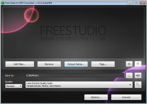 โปรแกรมแปลงไฟล์ Free Video to MP3 Converter