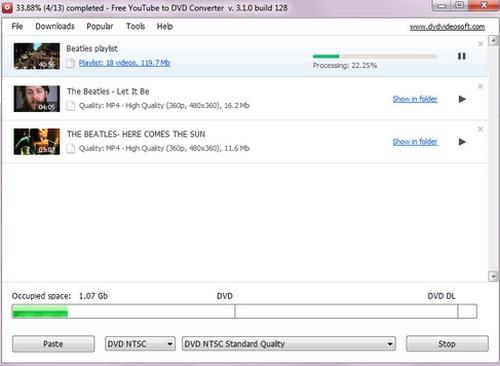 Free YouTube to DVD Converter (โปรแกรมแปลงไฟล์จาก Youtube เป็น DVD ฟรี) :
