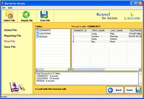โปรแกรมซ่อมฐานข้อมูล Access