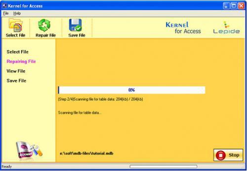 โปรแกรมซ่อมฐานข้อมูล Access Repair Software