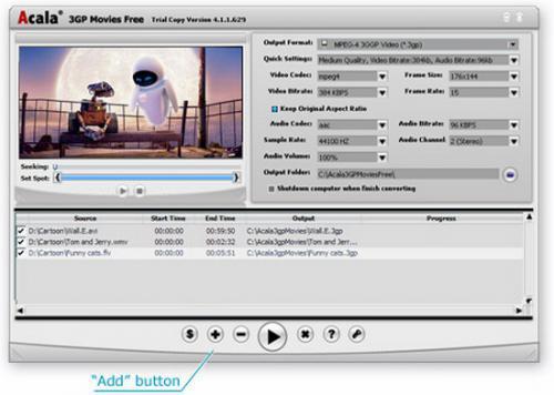 โปรแกรมแปลงไฟล์ 3GP ลงมือถือฟรี