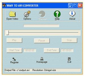 โปรแกรมแปลงไฟล์ WMV to AVI Converter