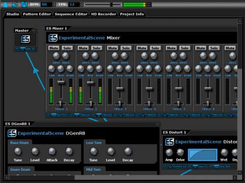 โปรแกรมแต่งเพลง DarkWave Studio