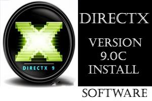 โลโก้โปรแกรม DirectX 9.0C