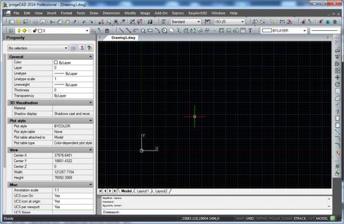 ProgeCAD 2014 (โปรแกรมเขียนแบบ เปิดไฟล์ .DWG AutoCAD ได้) :