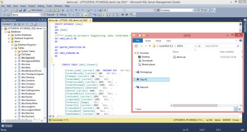 โปรแกรมแปลงฐานข้อมูลExcel เป็น SQL