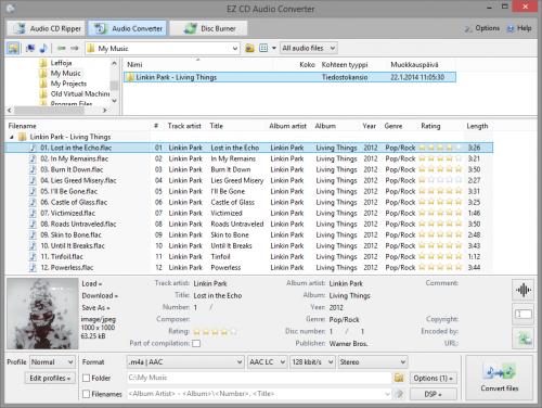 โปรแกรมแปลงไฟล์เพลง EZ CD Audio Converter