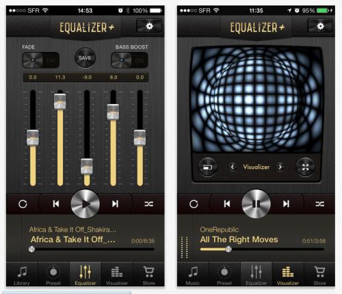 App สำหรับการเล่นเพลง Equalizer mp3 Player
