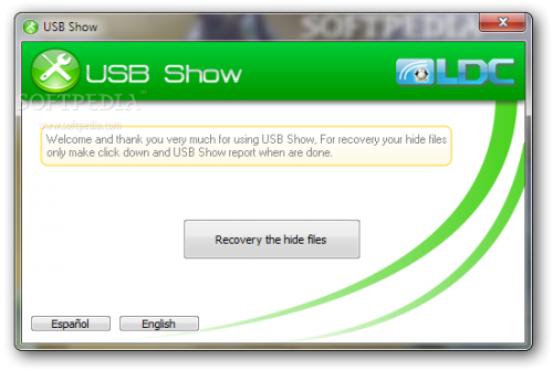 โปรแกรมกู้ข้อมูล USB Show