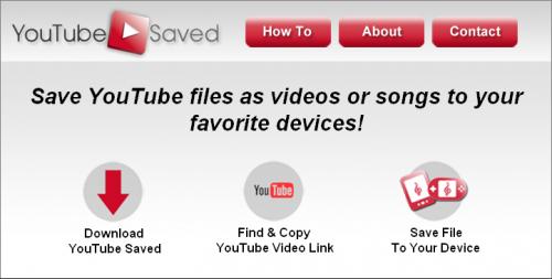 โปรแกรมดาวน์โหลดคลิปวีดีโอ YouTube Saved