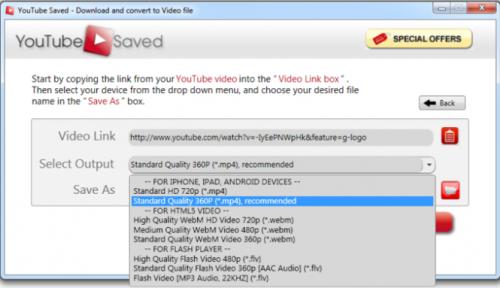 YouTube Saved (โปรแกรมดาวน์โหลดคลิปวีดีโอ) :