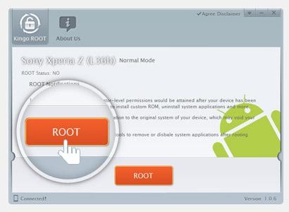 โปรแกรม Kingo Android Root