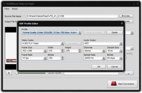 Soft4Boost Video to Flash (โปรแกรมแปลงไฟล์วีดีโอ เป็น Flash)