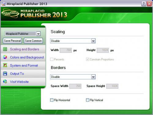 โปรแกรมแปลงไฟล์ Miraplacid Publisher