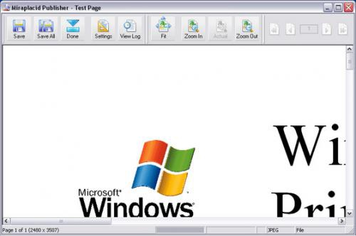 โปรแกรมแปลงไฟล์เอกสารเป็นรูปภาพ Miraplacid Publisher