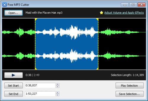 โปรแกรมตัดเพลง Free MP3 Cutter