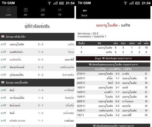 App ดูผลฟุตบอล