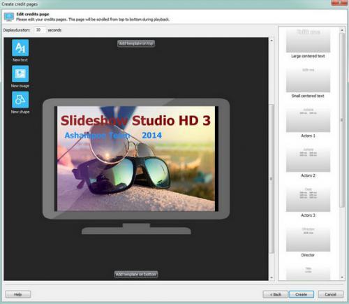 Ashampoo Slideshow Studio HD (โปรแกรมทำสไลด์ ทำ Presentation) :