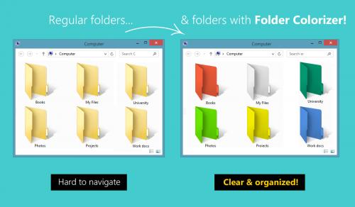 โปรแกรม เปลี่ยนสีโฟลเดอร์ Folder Colorizer