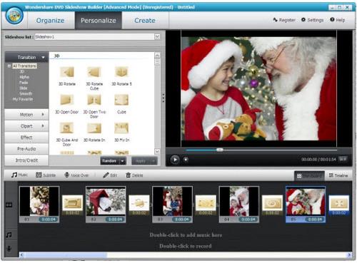 โปรแกรมทำสไลด์โชว์ DVD Slideshow Builder