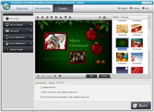 โปรแกรมทำสไลด์ประกอบเพลง DVD Slideshow Builder